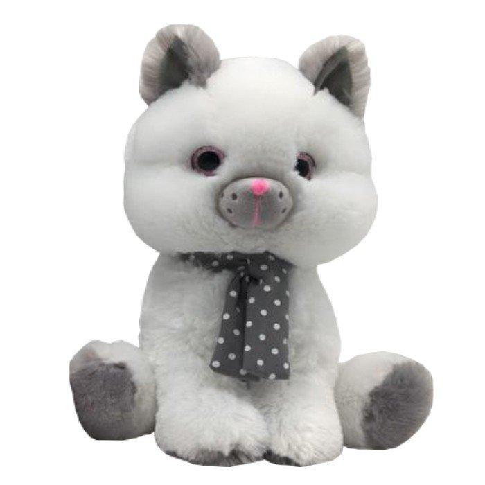 Axiom Maskotka Kot biały Silver 23 cm