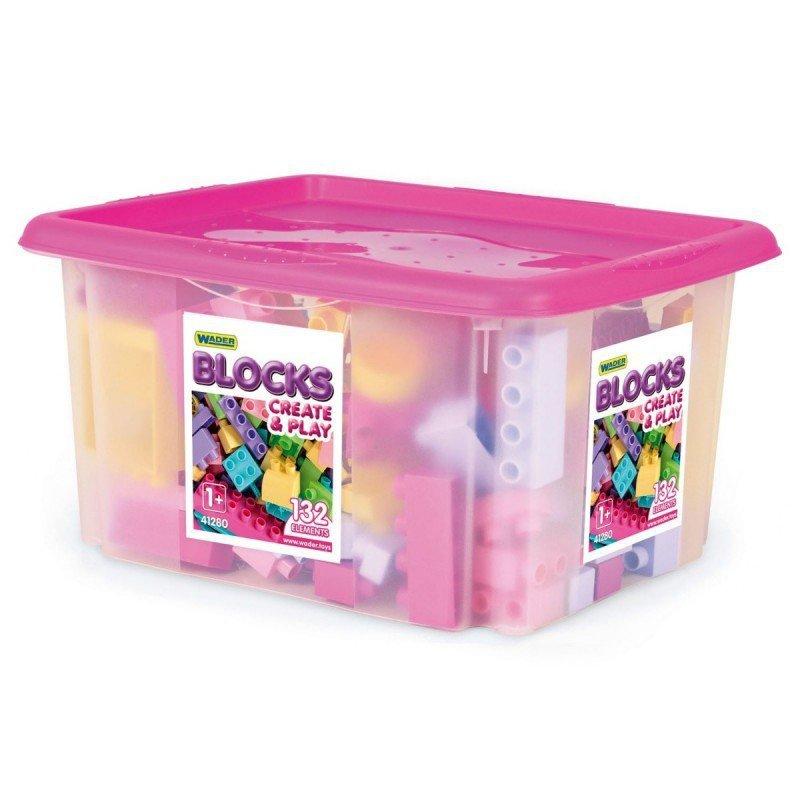 Wader Klocki 132 elementów w pojemniku dla dziewczynek