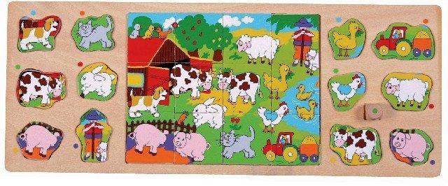Puzzle TOP BRIGHT 3 w 1 - Na wsi