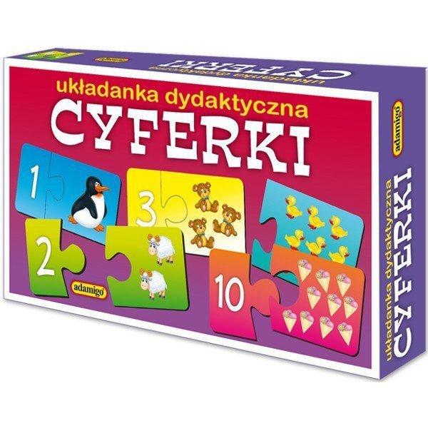 Adamigo Układanka puzzlowa Cyferki