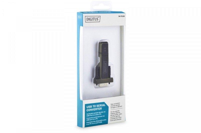 Konwerter/Adapter USB 2.0 do RS232 (DB9) z kablem USB A M/Ż 80cm