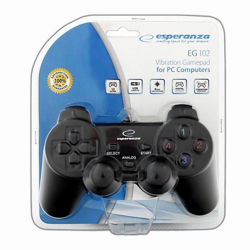Gamepad z wibracjami do PC EG102
