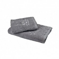APIS Ręcznik frotte z logo 70x140 – szary