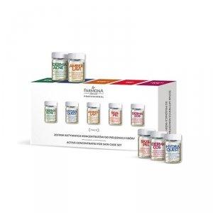 FARMONA Zestaw aktywnych koncentratów do pielęgnacji skóry (DERMA ACNE+ *2, HYDRA QUEST *2, AMBER LAVI *2, SKALPEL *2, DERMACOS