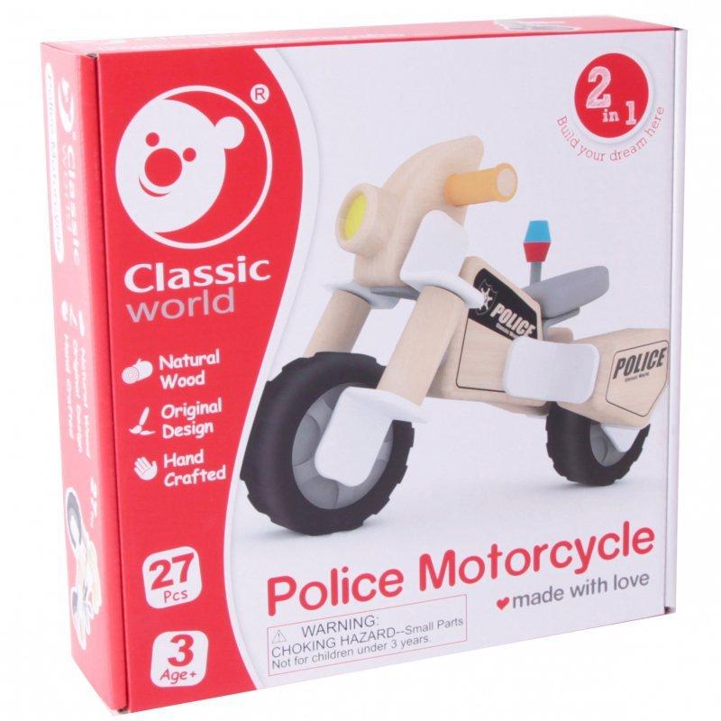 CLASSIC WORLD Klocki Konstrukcyjne Motocykl Policyjny