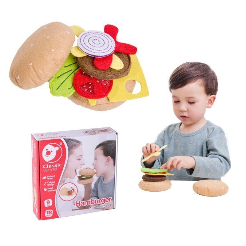 CLASSIC WORLD Zestaw Śniadaniowy Kanapka Do Składania Warzywa Hamburger