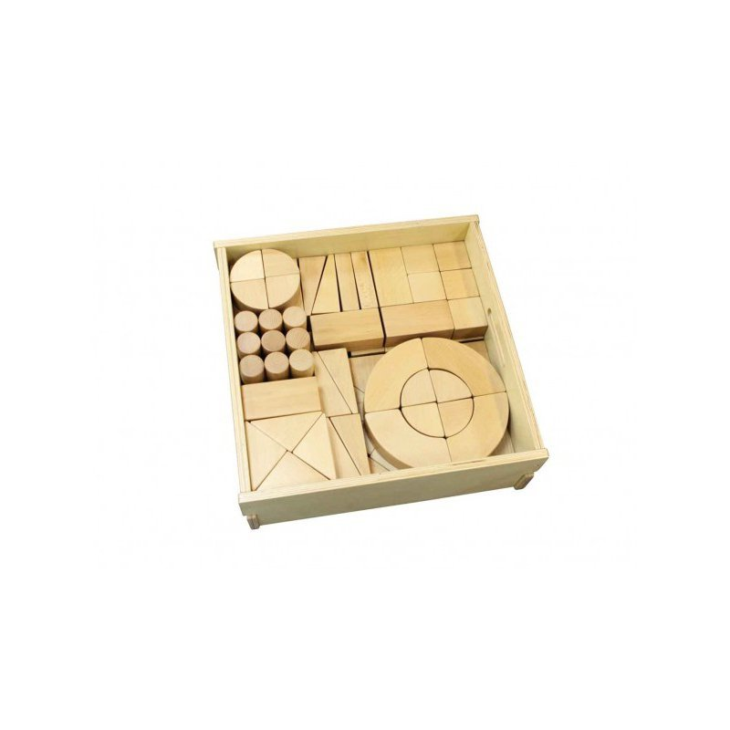 MASTERKIDZ Klocki Drewniane 92 Elementy