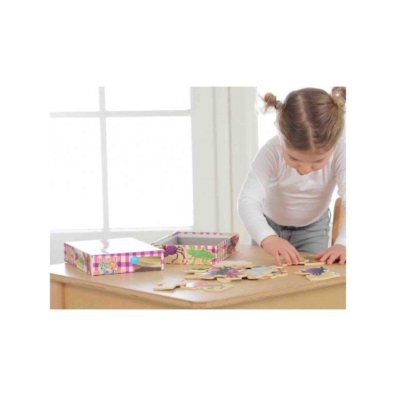 MASTERKIDZ Drewniane Puzzle Owady