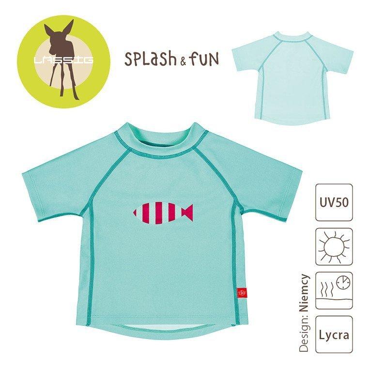 Koszulka T-shirt do pływania Aqua, UV 50+, 6-12m, Lassig