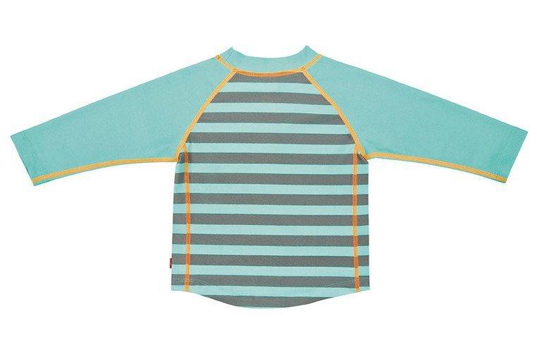 Lassig, Koszulka do pływania z długim rękawem Striped aqua, UV 50+