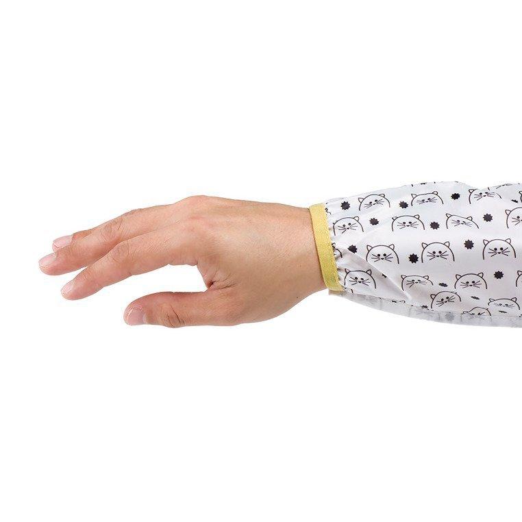 śliniak z długim rękawem kot