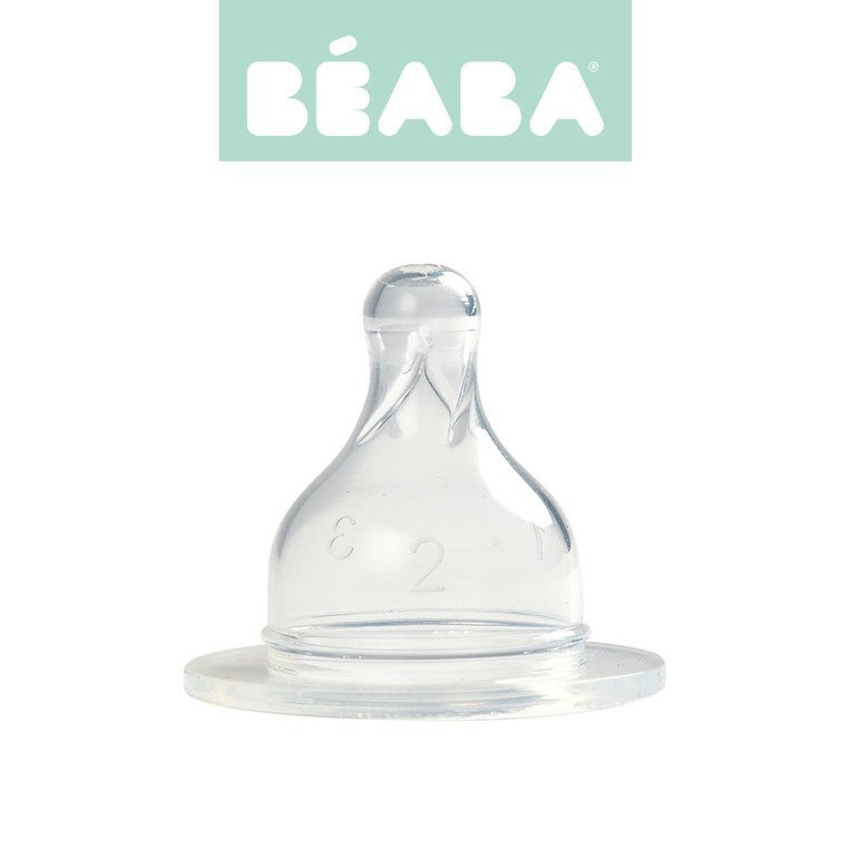 Beaba Zestaw 2 smoczków do butelek szerokootworowych, zmienny przepływ 6m+