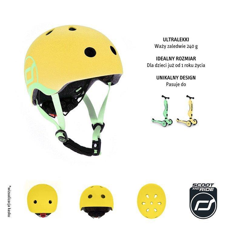 SCOOTANDRIDE Kask XXS-S dla dzieci 1-5 lat Lemon www.tuliki.pl