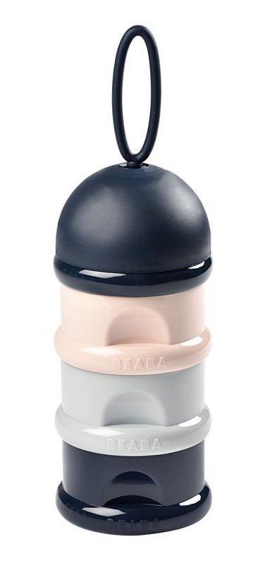 BEABA Pojemniki na mleko w proszku dark blue + gray + pink