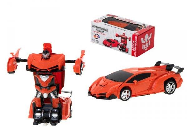 Samochód RC Autobot Transformacja 2w1 1:20 pomarań