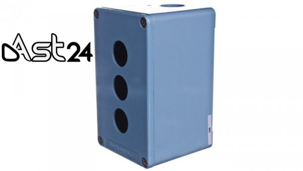 Obudowa kasety 3-otworowa 22mm niebieska IP65 XAPM2503H29