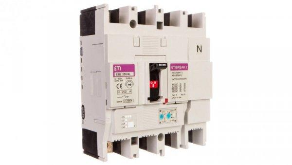 Wyłącznik mocy 4P 250A 25kA /wyzwalacz termo-magnetyczny/ EB2 250/4L 004671076