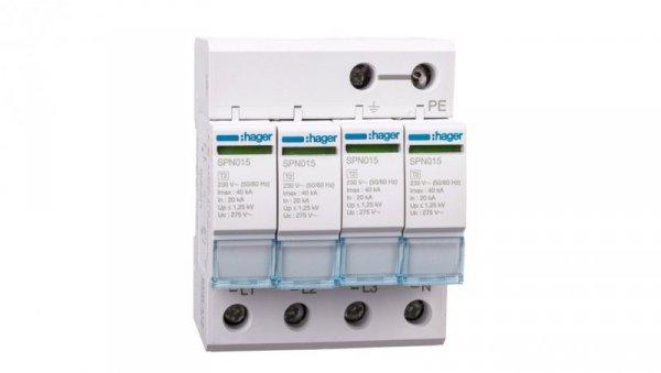 Ogranicznik przepięć C Typ 2 4P 20kA SPN415