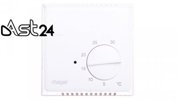 Termostat 230V 10A 5-30°C IP30 biały EK054