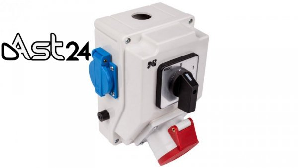Zestaw instalacyjny z gniazdem 16A 5P+2P+Z RS-Z (0-1) czerwony 6272-00