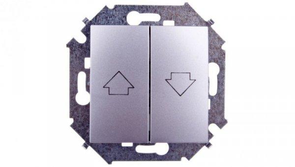 Simon 15 Przycisk żaluzjowy aluminium metalizowane 1591335-026