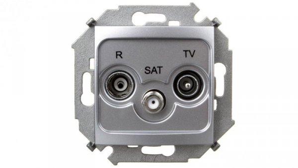 Simon 15 Gniazdo antenowe RTV/SAT końcowe aluminium metalizowane 1591466-026