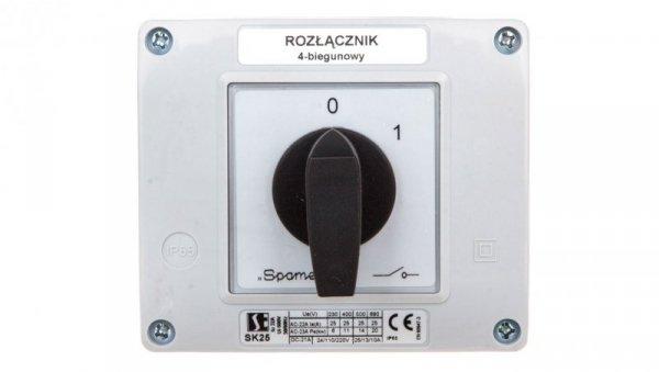 Łącznik krzywkowy 0-1 25A 4P w obudowie SK25-2.8210OB13