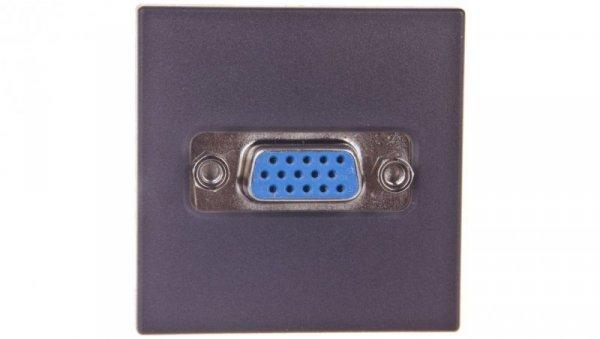 Simon Connect Gniazdo K45 video VGA /D-Sub 15/ szary grafit K100B/14