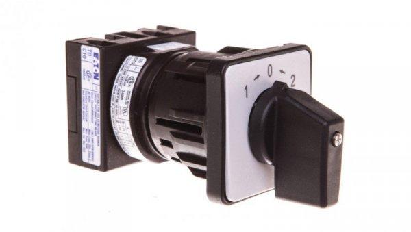 Łącznik krzywkowy 1-0-2 1P 20A do wbudowania z samopowrotem do pozycji 0 T0-1-8214/EZ 076815