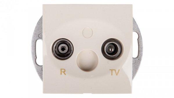 Simon 54 Gniazdo antenowe RD/TV przelotowe kremowe DAP16.01/41