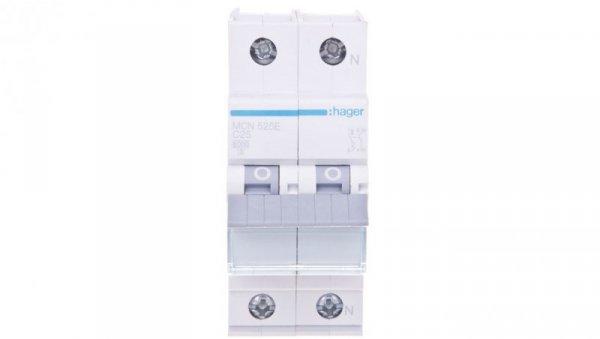 Wyłącznik nadprądowy 1+N C 25A 6kA AC MCN525E