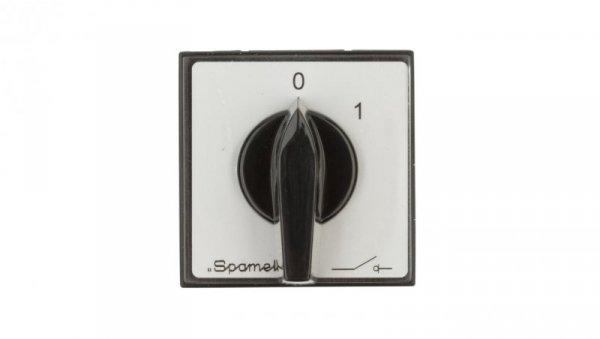 Łącznik krzywkowy 0-1 2P 16A do wbudowania ŁK16R-1.828P03