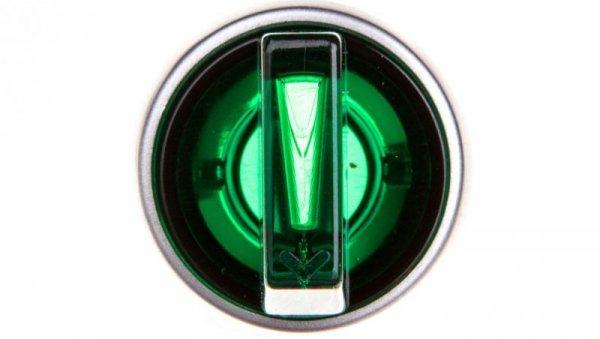 Przełącznik 2 połóżeniowy pokrętło 22mm zielony 1Z bez samopowrotu ST22-PL.Z-10-230-LEDAC