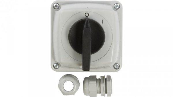 Łącznik krzywkowy 0-1 3P 25A IP44 Łuk E25-13 w obudowie 952511