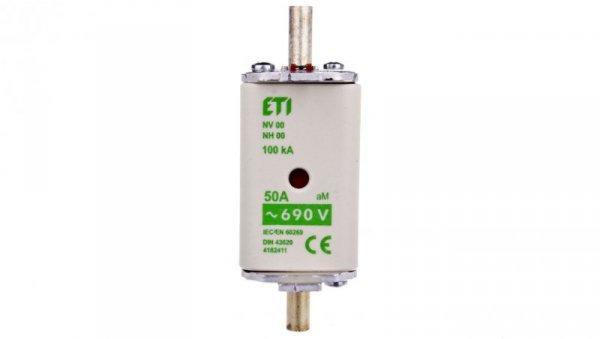 Wkładka bezpiecznikowa KOMBI NH00 50A aM 690V WT-00 004182411