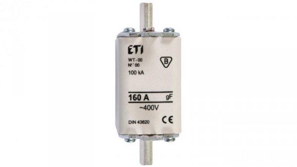 Wkładka bezpiecznikowa NH00 160A gF 500V WT-00/gF/160A/P/500V 004119104