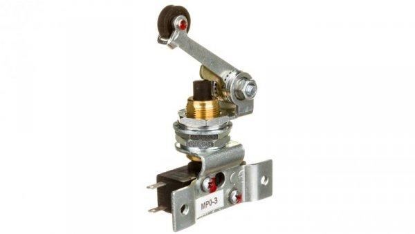 Wyłącznik krańcowy miniaturowy 1R 1Z  MP0-3 dźwignia z rolką  W0-59-182092
