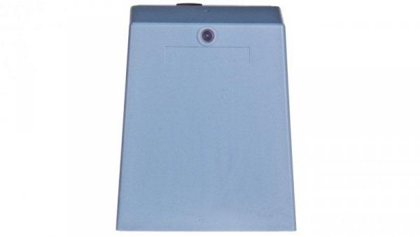 Wyłącznik nożny pojedynczy z osłoną niebieski metal 1Z 1R 1 krok XPEM310