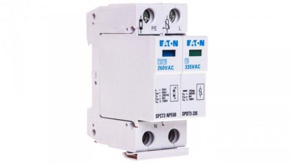 Ogranicznik przepięć D 2P 2,5kA 1kV SPDT3-335-1+NPE 170487