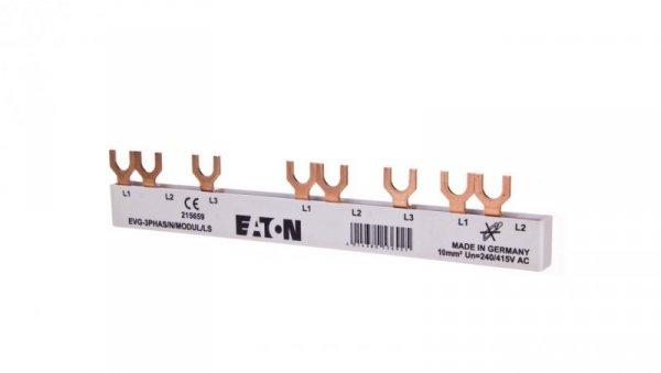 Szyna łączeniowa 3P 63A 10mm2 widełkowa (5 mod.) EVG-3PHAS/N/5MODUL/LS 215659