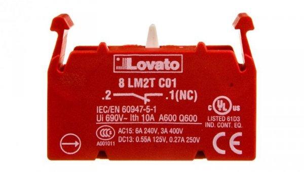 Styk pomocniczy 1R montaż czołowy 8LM2TC01