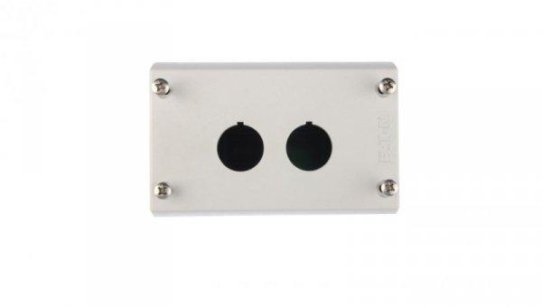 Obudowa kasety 2-otworowa 22mm szara IP67 M22-I2 216537