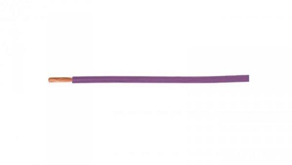 Przewód instalacyjny H07V-K (LgY) 1,5 fioletowy /100m/