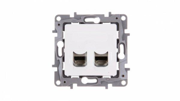 NILOE Gniazdo komputerowe podwójne RJ45 kat.6 STP białe 664776