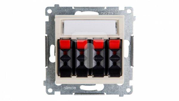 Simon 54 Gniazdo głośnikowe poczwórne kremowe DGL34.01/41