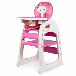 Fotelik krzesełko do karmienia 2w1 pink ECOTOYS