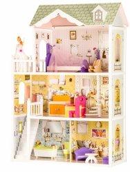 Drewniany domek rezydencja Beverly Hills + lalka gratis  Ecotoys