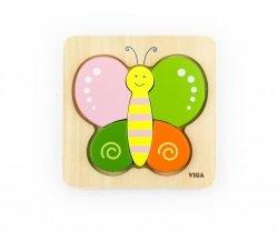 Pierwsze puzzle maluszka - motyl Viga