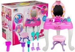 Różowa Toaletka z krzesłem dla małej modelki