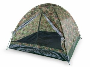 Namiot turystyczny 4os. 200x200 cm moskitiera moro